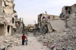 Una immagine di Aleppo, città siriana devastata dalla guerra.