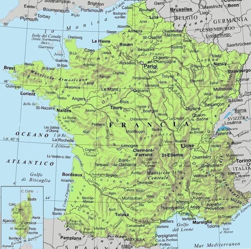 Cartina Della Francia Fisica.La France Lessons Tes Teach