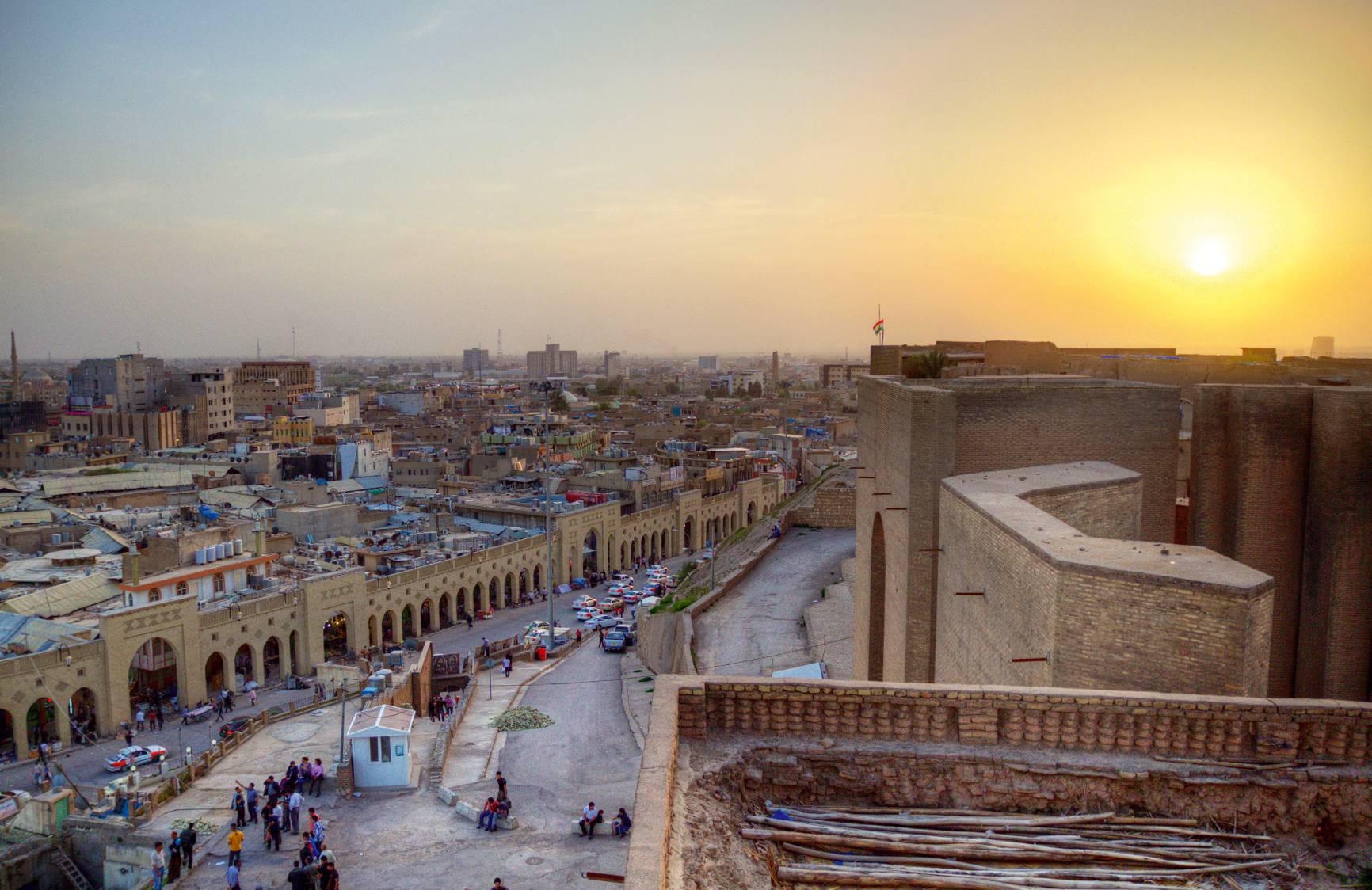 Una veduta della città irachena di Erbil