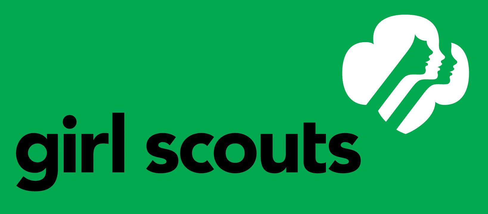 Girl Scout Logo on Green Background
